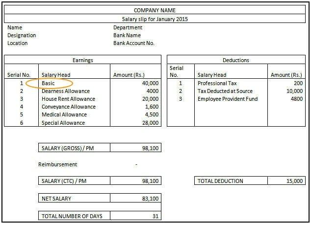 Basic Salary - Salary Slip