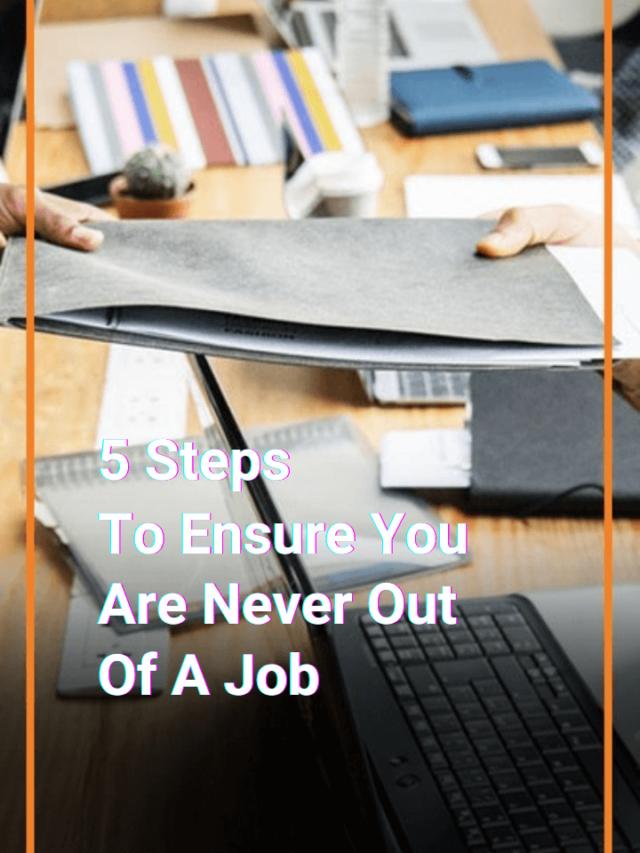 5 Steps To Avoid Unemployment   Scripbox