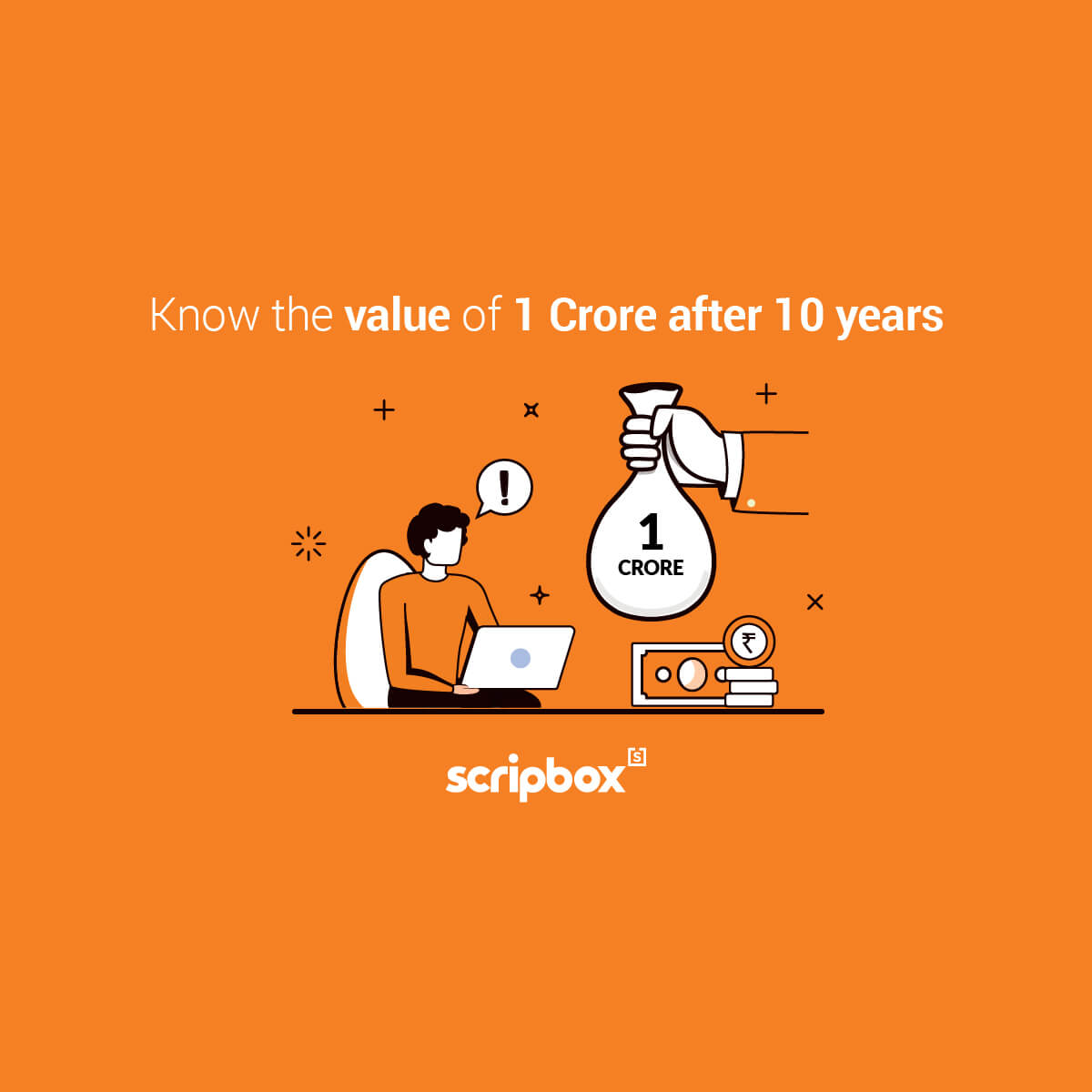 value of 1 crore after 10years