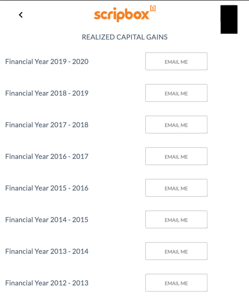 realised capital gains