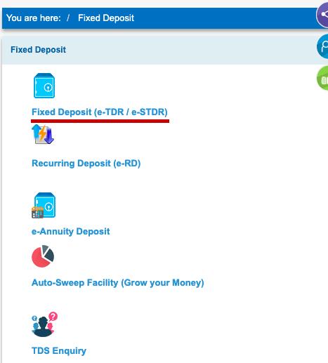 Find SBI Term Deposit