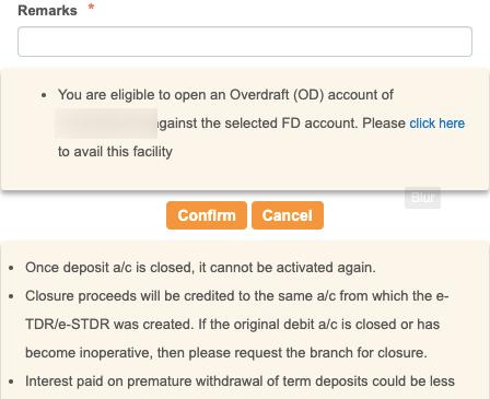 SBI FD Account Close Step