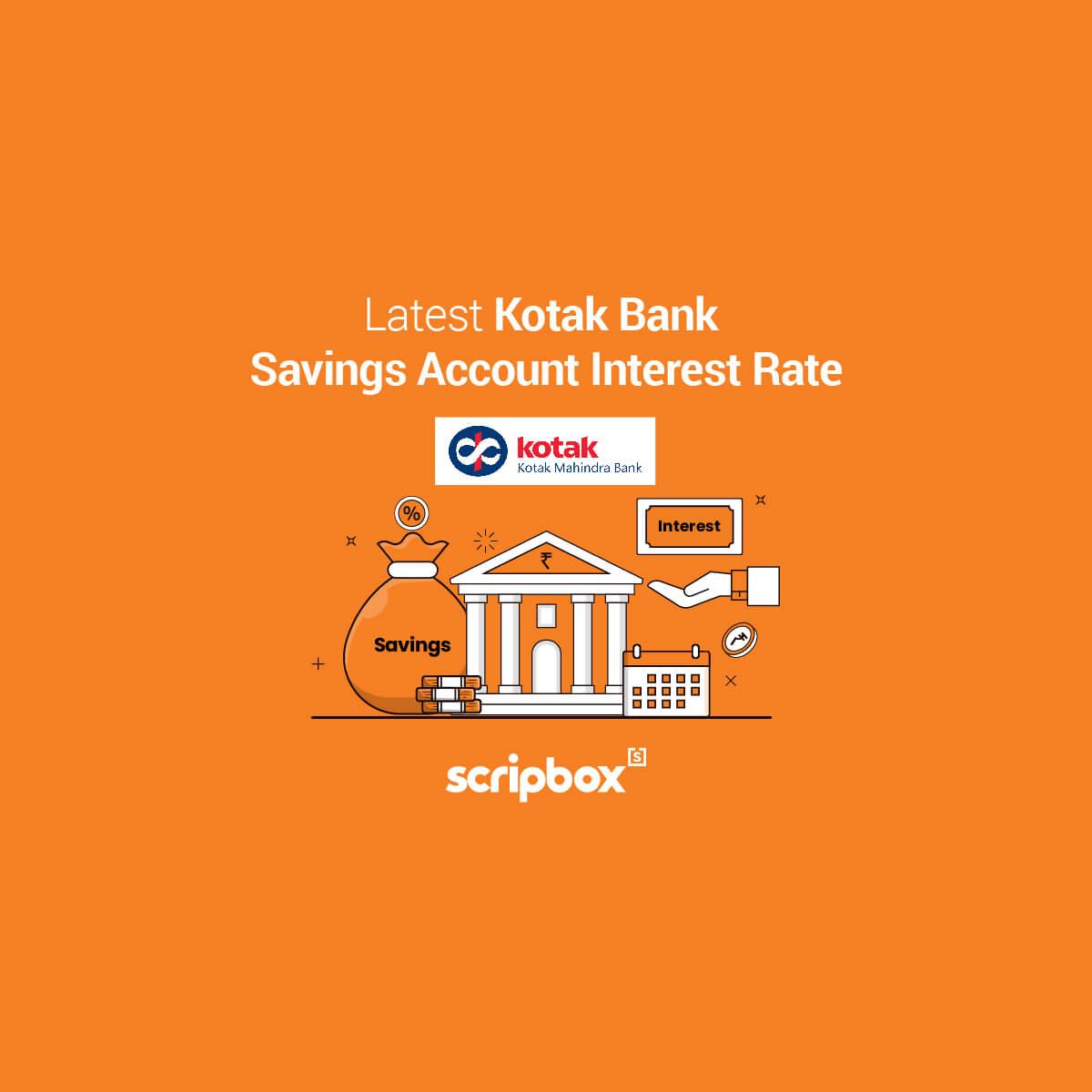 kotak savings account interest rate